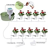 Elitlife [2019 Update DIY Micro Automatic Drip Irrigation Kit, Self Watering System with Timer and USB Charging Cable, 30-Day Programmable Water Timer for 15 Pots Flowers