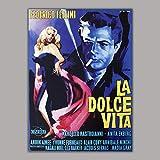 Movie Poster Bild auf Leinwand La Dolce Vita - Federico