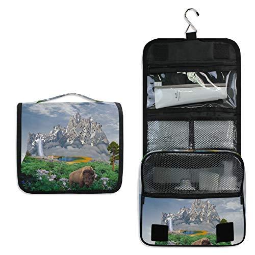 Fantasy World Sac de toilette de voyage à suspendre pour maquillage, sac de rangement multifonction