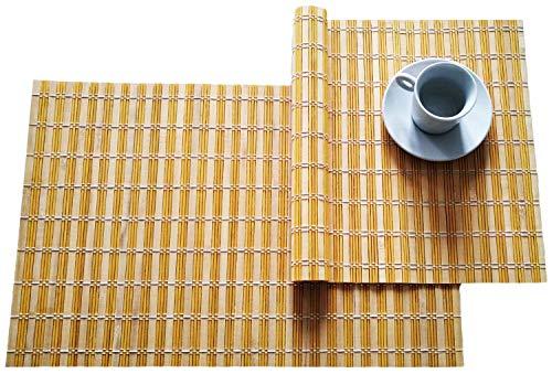 Set di 2 Tovagliette All'Americana di Bamboo Bambù Tappetino 30 x 45 cm
