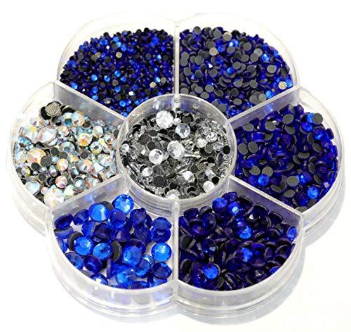 BLINGINBOX 3000 piezas de diamantes de imitación DMC Hot Fix cristal Strass rojo Hotfix piedras de imitación para ropa (zafiro)