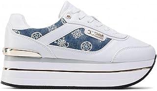 FL5HNSDEN12 WHITE GUESS FOOTWEAR MAIN Baskets pour femme