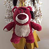 JunziWing Disney 32CM Toy Story Lotso Peluches de Peluche Suave Strawberry Bear Lotso con Fragancia ...