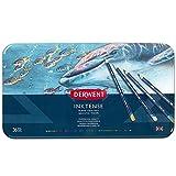 Derwent Inktense 36 - Lápices de tinta soluble en agua (36 colores, en estuche de metal)