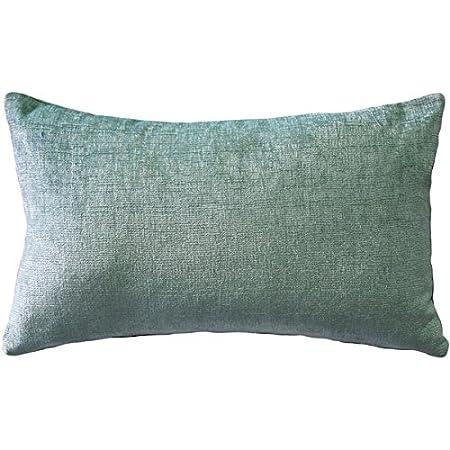 Amazon Com Pillow Décor Venetian Velvet Ice Blue Throw Pillow 12x20 Home Kitchen