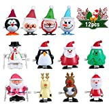 FunsLane 12 Pcs Assorted Wind Up Toys for Kids, Holiday Party Favor, Goody Bag Filler, Children's Birthdays Gifts