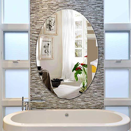 Wandspiegel Badspiegel Make-up Spiegel Ovaler Badezimmerspiegel, Badspiegel zur Wandmontage, Schminkspiegel, Badspiegel zur Wandmontage, ungerahmt (45 * 60 cm, 50 * 70 cm, 60 * 80 cm) Groß Spiegel
