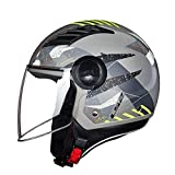 XY&CF Casco Moto Locomotiva Four Seasons Universal Half Helmet (Colore : B, Dimensioni : 2XL)