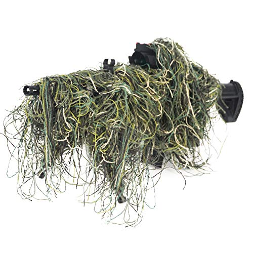Guguluza 3D Rifle pistola envuelve cubierta uso correa elástica para camuflaje bosque caza Ghillie traje
