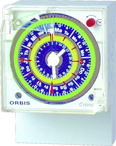 Orbis Crono D OB050523 - Temporizador analógico, 230 Vac, 50-60 Hz