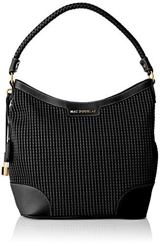 MAC DOUGLAS Ephese Bryan Sac porte epaule, Femme, Noir (Noir), 12x30x43 cm (W x H x L)