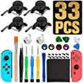 Sweetone 4-Pack Analog Joystick,3D Joycon Joystick Replacement Repair Kit for Nintendo Switch Joy-Con, Professional Parts with Analog Joysticks, Include Cross Screwdriver, Pry Tools,Thumbstick Caps