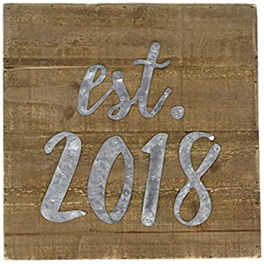 Mud Pie 4343009 Wall Plaque, Brown