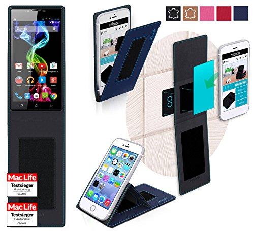 reboon Hülle für Archos 55 Platinum Tasche Cover Case Bumper | Blau | Testsieger