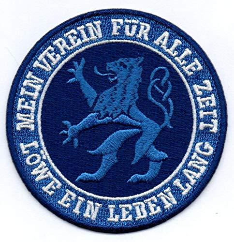 Löwe - Ein Leben Lang Aufnäher Bügelbild Stickbild Iron on Patch