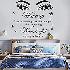 inspirational wall decals quotes vinyl beauty eye wall decal motivational sayings for wall art decor stickers positive words letters wall decals for women girls bedroom living room home