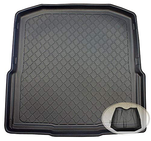 ZentimeX Z3122242 Gummierte Kofferraumwanne fahrzeugspezifisch + Klett-Organizer (Laderaumwanne, Kofferraummatte)