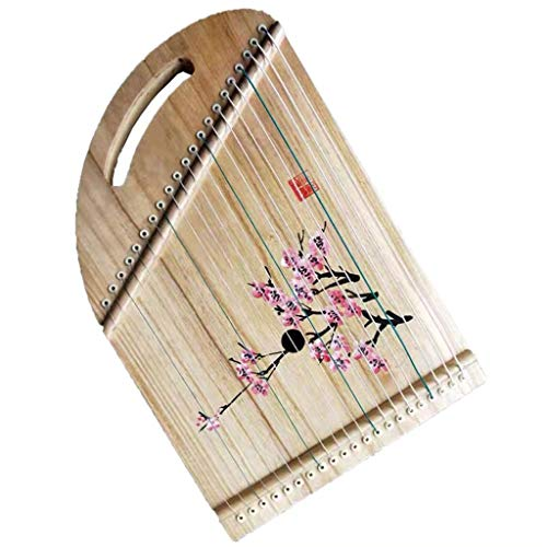 Guzheng-Trainer, chinesischer GU Zheng, Guzheng Finger Trainer mit vollem Zubehör/Rucksack, geeignet for Anfänger/Professional, 21 Saiten, Mini tragbar (Color : Red Plum)