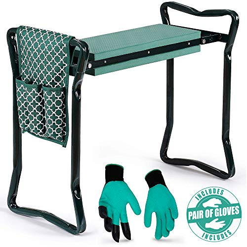 Garden Kneeler And Seat - Protects Your Knees, Clothes From Dirt...