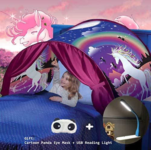 Nifogo Bettzelt Traumzelt, Magical World Traum Zelt, Kinder Schlafzimmer Dekoration Kinder Lesen (Einhorn)