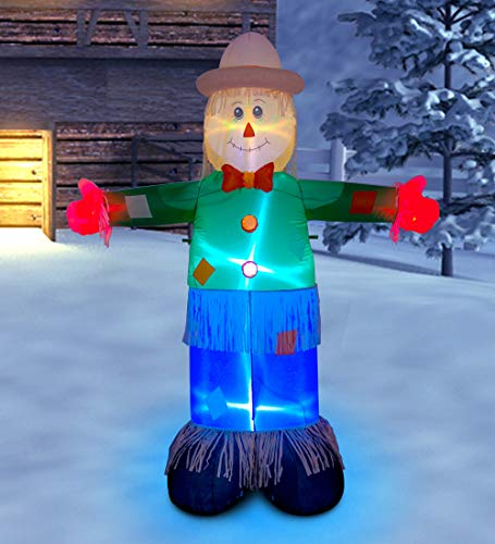 Ycolnaefllr 7 ft Christmas Inflatable Scarecrow Christmas Indoor and Outdoor Decoration Blow up Scarecrow Yard Lawn Inflatables Home Family Decor