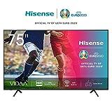 Hisense 75AE7000F 190 cm (75 Zoll) Fernseher (4K Ultra HD, HDR, Triple Tuner DVB-C/S/S2/T/T2, Smart-TV, Frameless, Bluetooth, Alexa, verstellbare Standfüße) [Modelljahr 2020]