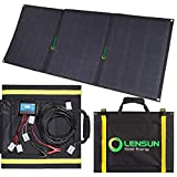 Lensun 100W Foldable Solar Panel Kit, 12V Ultralight Folding Solar Charger with USB Port Solar...