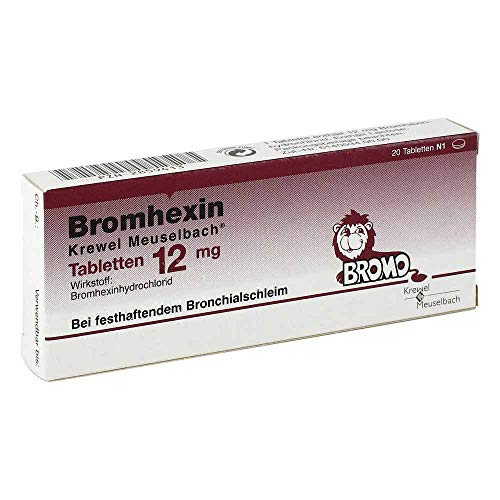 Bromhexin Krewel Meuselbach Tabletten 12mg, 20 St