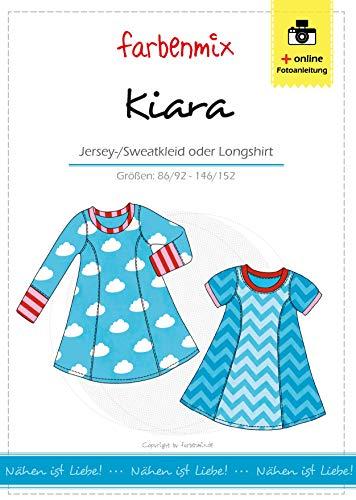 Farbenmix Kiara Schnittmuster (Papierschnittmuster für die Größen 86/92-146/152) Kleid/Longshirt