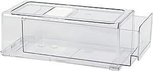 GREENTEC Refrigerator Organizer Drawer, Stackable Fridge Bins, Pull Out Food Storage Container for Freezer, Kitchen, Home, Cosmetics, BPA Free, Medium