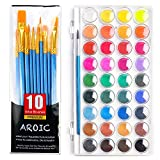 AROIC Watercolor Brush Set, with a Watercolor Paint, 36 Color,and a Package of 10 Brushe...