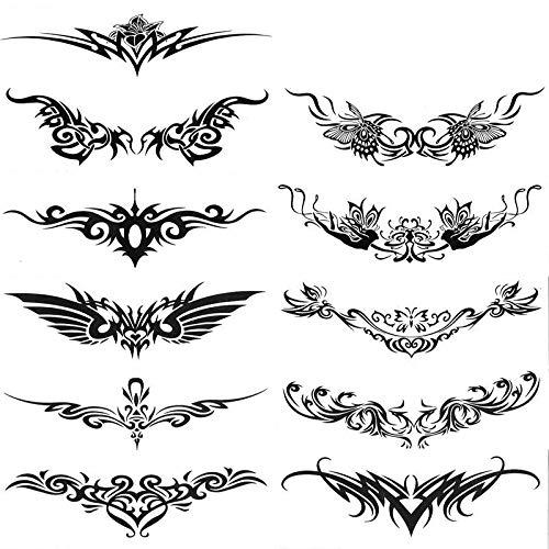 XIANYING wasserdichte Tattoo Aufkleber Männer und Frauen Tattoo Taille Arm Ring Totem Bauch Personalisierte Flügel Aufkleber 1 Satz von 11