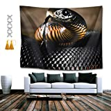 YongColer Black Mamba Tapestries, Boho Bedding Tapestry Wall Hanging Tapestries - Throw Home Indian Decoration Retro Art Living Room Bedroom Dorm Room 50 x 60 inches