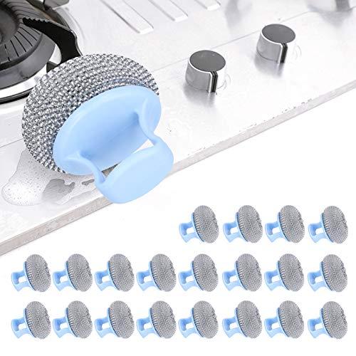 Bola de alambre de acero desmontable Durable cepillo de acero inoxidable Pot Scrubber Potes baño