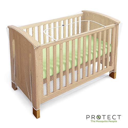 Zanzariera e rete Protect - contro gli insetti per culle, lettini e culle da viaggio - con cerniera per un accesso rapido e facile al tuo bambino