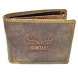 Hunters Leather Wallet Wild Buffalo Leather Wallet Natural Hunter Leather Men's Wallet Men's Wallet