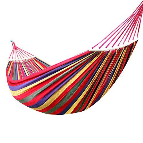 SSJY Hamaca Camping,Hamaca de jardín Columpio al Aire Libre Cama de Red Colgante Engrosada Lona Engrosada Diseño antivuelco Adecuado para Acampar al Aire Libre,Ocio en el hogar,Dormitorio,etc.