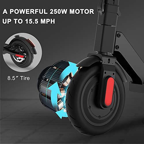 M MEGACHEELS Patinete electrico Adulto S5S - Scooter electrico 25km/h, Juventud Unisex,Negro