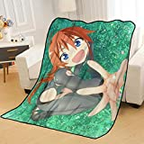 ZKPZYQ Mantas para Cama Flip Flappers Mantas de rol Manta de Anime Mantas Suaves cálidas Manta de Franela Manta de sofá Mantas Mantas de Camping 150x200cm