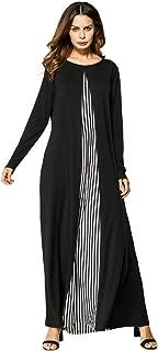 Clearance,2019 Ramadan Womens Robe Abaya Islamic Muslim Middle Eastern Long Dress Indian Pleated Burqa Tunic Gowns On Sale (L, Black)