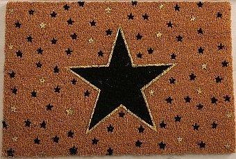 Homestyle & more Kokos-Fußmatte Sterne 60x40cm braun schwarz