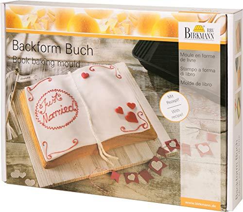 RBV Birkmann, 214019, Motivbackform Buch, 34 x 25 cm, mit Antihaftbeschichtung