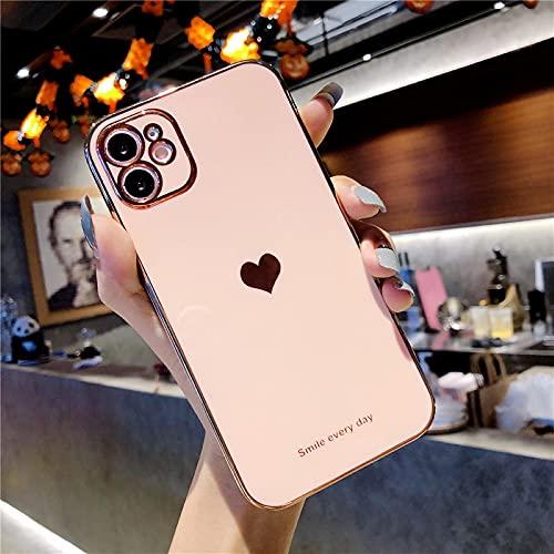EYZUTAK Carcasa para iPhone 6 iPhone6s, brillante, suave, de silicona TPU, delgada, antigolpes, protección de cámara, color rosa