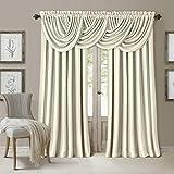 "Elrene Home Fashions All Seasons Energy Efficient Room Darkening Rod Pocket Window Panel, 52"" x 84"" (1), Ivory"