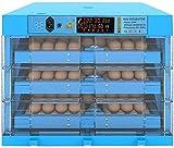 Portatile Incubatrice, Covatrice Macchina Controllo di Temperatura Tornitura di Uova, Facile da Osservare Incubatrici di Uova, per Gallina/Anatra/Quaglia,Blue_192 Eggs