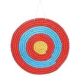 Odoukey Tiro al Arco de Paja de una Sola Capa de 50 cm Sólido Flecha Arco de Destino para dardo al Aire Libre Precisión Cubierta de capacitación de Verano al Aire Libre