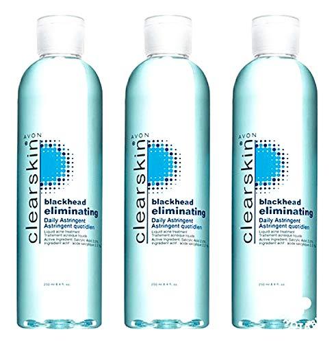 3 Bottles clearskin Blackhead eliminating Daily Astringent 8.4 oz Each by Avon