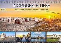 NORDDEICH-LIEBE (Tischkalender 2022 DIN A5 quer): Bezaubernde Momente vom Urlaubsparadies (Monatskalender, 14 Seiten )