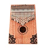 SUPVOX 17 Tasti Kalimba Thumb Piano Legno Vintage Mogano Finger Piano Koa Wood Mbira Sanza...
