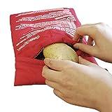Bolsas «HK Potato Jacket» para cocinar patatas en microondas rápidamente (2 unidades lavables a...